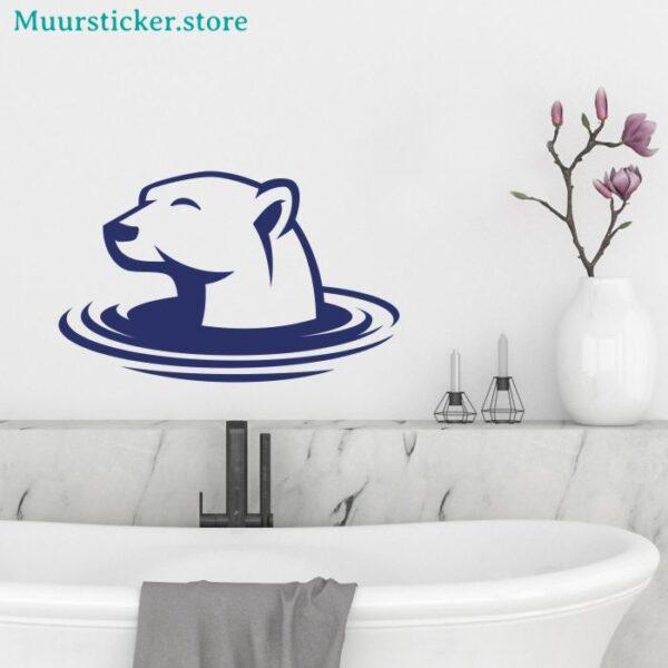 Muursticker ijsbeer