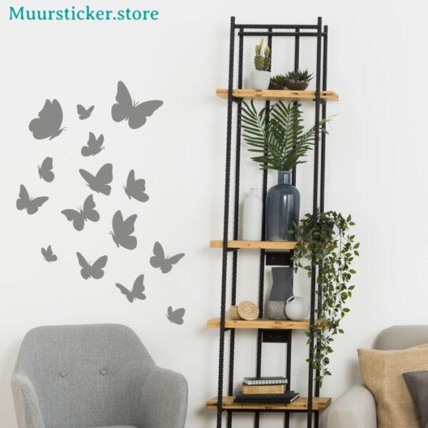 Muurstickers meerdere vlinders